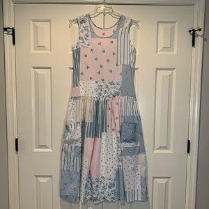 Dresses & Skirts - Vintage Classic Cottagecore Patchwork Floral Dress